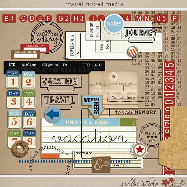 Travel Mixed Media by Sahlin Studio