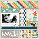 """Family digital scrapbooking page using Photo Journal No.2 (4x6"""" Templates) by Sahlin Studio"""