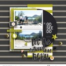 """Let the adventure begin digital scrapbooking page using Photo Journal No.2 (4x6"""" Templates) by Sahlin Studio"""