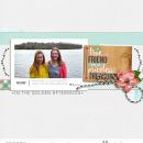 "True friend digital scrapbooking page using Photo Journal No.2 (4x6"" Templates) by Sahlin Studio"