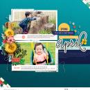 "April digital scrapbooking page using Photo Journal No.2 (4x6"" Templates) by Sahlin Studio"