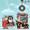 Fast digital scrapbooking page by MrsPeel Car Collection digital scrapbooking page using Project Mouse (Cars) by Britt-ish Designs and Sahlin Studio
