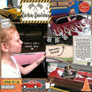 Rockin Roadway digital pocket scrapbooking page by becca using Project Mouse (Cars) by Britt-ish Designs and Sahlin Studio