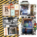 Disney's Radiator Springs digital scrapbooking page by justine using Project Mouse (Cars) by Britt-ish Designs and Sahlin Studio