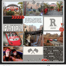 Disney's Radiator Springs digital pocket scrapbooking page using Project Mouse (Cars) by Britt-ish Designs and Sahlin Studio
