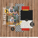 Car Collection digital scrapbooking page using Project Mouse (Cars) by Britt-ish Designs and Sahlin Studio