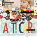 Fast Cars digital scrapbooking page using Project Mouse (Cars) by Britt-ish Designs and Sahlin Studio
