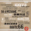 Project Mouse (Cars): Word Art / Bits by Britt-ish Designs and Sahlin Studio - Perfect for Disney's Cars, Carsland, Radiator Spring or racing moments for your Project Mouse or Project Life Albums!!