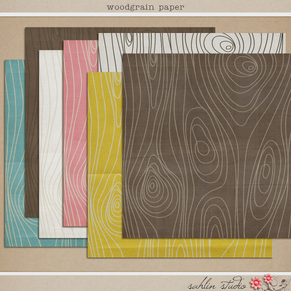 Woodgrain Papers by Sahlin Studio