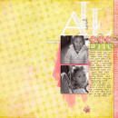 layout featuring Foam Stamp Alpha: White by Sahlin Studio