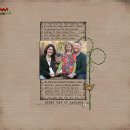 layout featuring Antique Journalers by Sahlin Studio