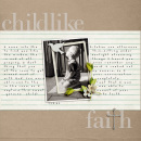 layout featuring Blessed by Sahlin Studio