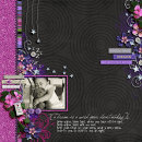 layout featuring Dreaming Word Art by Sahlin Studio