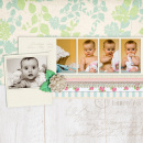 layout featuring Embossed Frames by Sahlin Studio