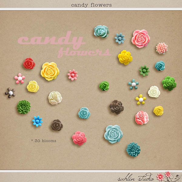 Candy Flowers by Sahlin Studio