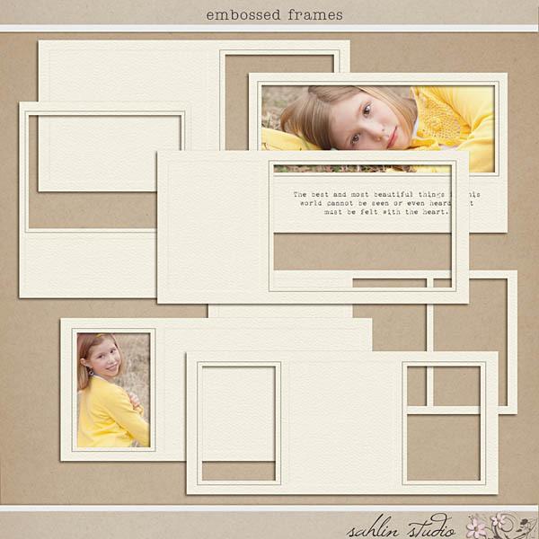 Embossed Frames by Sahlin Studio