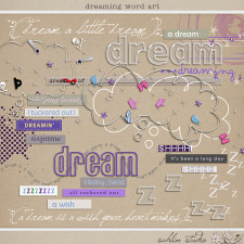 Dreaming Word Art by Sahlin Studio