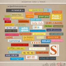 Snipettes: Life's a Beach by Sahlin Studio
