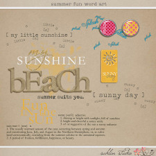 Summer Fun Word Art by Sahlin Studio