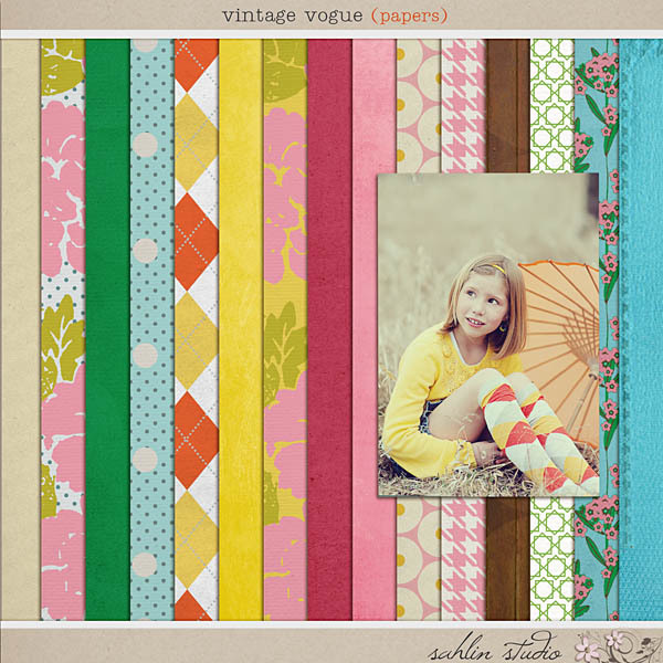 Vintage Vogue (Papers) by Sahlin Studio