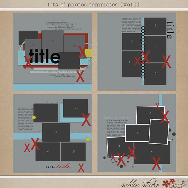 Lots O' Photos Templates (vol. 1) by Sahlin Studio