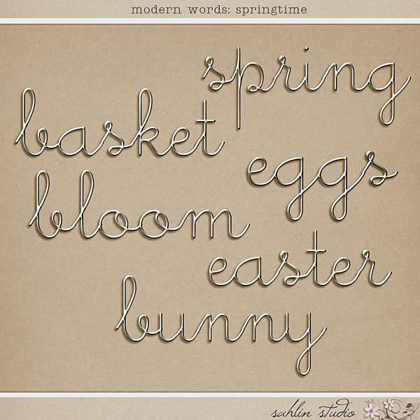 Modern Words: Springtime by Sahlin Studio