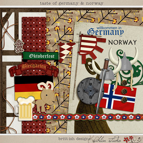 Taste of Germany & Norway by Britt-ish Designs and Sahlin Studio