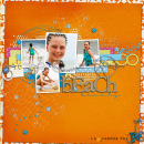 layout featuring Summer Fun Word Art by Sahlin Studio