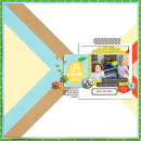 High Point digital scrapbooking page by Sir Scrapalot using Highs and Lows by Sahlin Studio