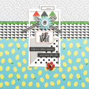 Up Down digital scrapbooking page using Highs and Lows by Sahlin Studio