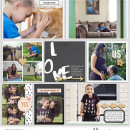 Family Love digital Project Life page using Me and You by Sahlin Studio