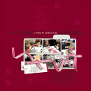 layout featuring A Story of Friendship by Sahlin Studio