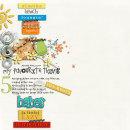 layout featuring Modern Words: Summer by Sahlin Studio