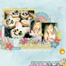 layout featuring Sunshine and Daffodils by Sahlin Studio