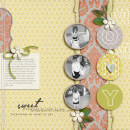 layout featuring Vintage Worn and Torn Papers by Sahlin Studio
