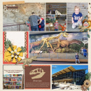 Wall of Dinosaur bones digital pocket scrapbooking page by camijo using Project Mouse: Animal by Britt-ish Designs and Sahlin Studio