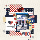 America Pavilion EPCOT Disney Digital Scrapbook Layout page using Project Mouse (World): America by Britt-ish Design and Sahlin Studio
