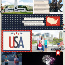 USA America Digital Scrapbook Layout page using Project Mouse (World): America by Britt-ish Design and Sahlin Studio
