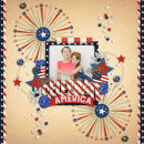 Celebrate America Digital Scrapbook Layout page using Project Mouse (World): America by Britt-ish Design and Sahlin Studio