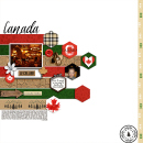 O' Canada Digital Scrapbook Layout page using Project Mouse (World): Canada by Britt-ish Design and Sahlin Studio
