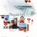Niagara Falls Digital Scrapbook Layout page using Project Mouse (World): Canada by Britt-ish Design and Sahlin Studio