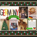 Disney EPCOT Germany Digital Scrpabook Layout page using Project Mouse (World): Germany by Britt-ish Design and Sahlin Studio