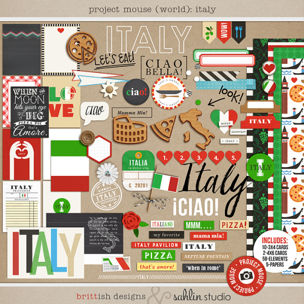 Project Mouse (World): Italy by Britt-ish Design and Sahlin Studio