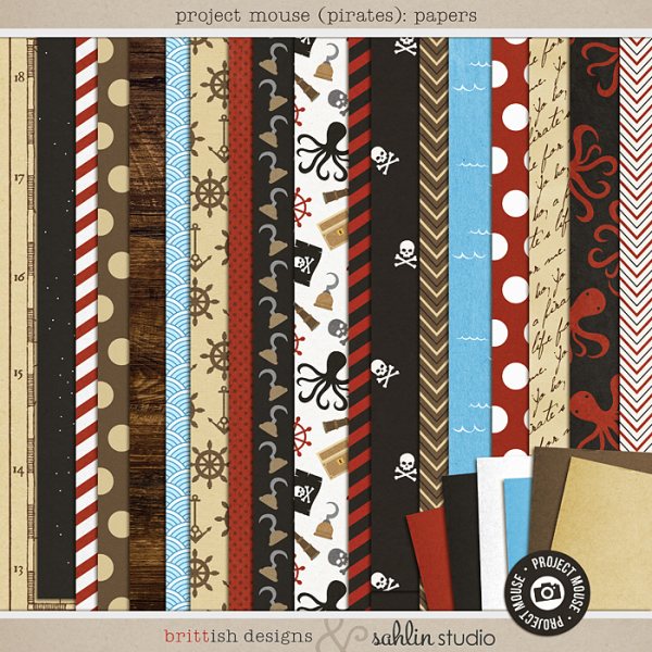 Project Mouse (Pirates) Papers | by Britt-ish Designs and Sahlin Studio