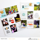 Hiking hybrid outdoors, project life page featuring Simplify by Sahlin Studio