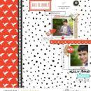 Back to school digital scrapbooking page featuring Simplify by Sahlin Studio