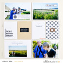 Hybrid project life page featuring Simplify by Sahlin Studio