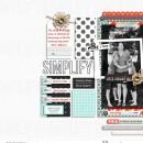 Simplify digital scrapbook page featuring Simplify by Sahlin Studio
