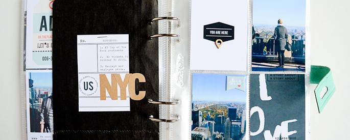 Amy Challis | New York Travel Mini Album | Sahlin Studio Scrapbook Designs