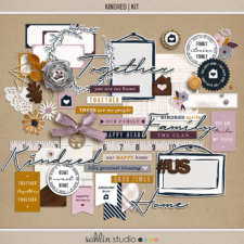 Kindred - Digital Scrapbooking Papers and Kit by Sahlin Studio - Perfect for digital or printing!